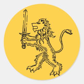 ライオンの頂上の黒 ラウンドシール