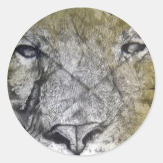 ライオンの頭部 ラウンドシール