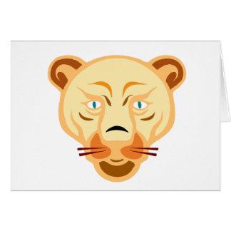 ライオンの顔 カード