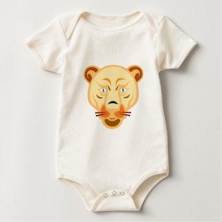 ライオンの顔 ベビーボディスーツ