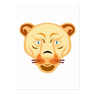 ライオンの顔 ポストカード