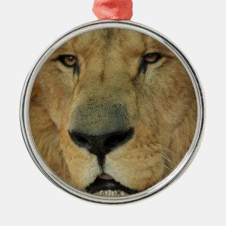 ライオンの顔 メタルオーナメント