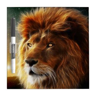 ライオンの顔。抽象的概念百獣の王 ホワイトボード