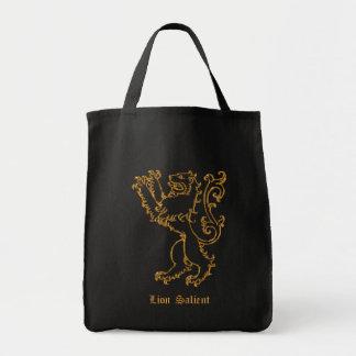ライオンの顕著な中世紋章学 トートバッグ