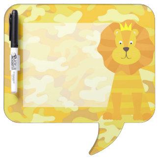 ライオンの黄色および金ゴールドの迷彩柄のデザイン ホワイトボード