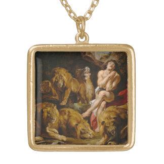ライオンの」洞穴のネックレス ゴールドプレートネックレス