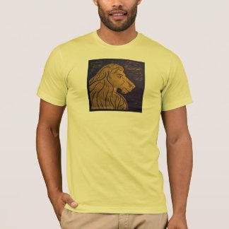 ライオンの(金ゴールド及び黒)服装 Tシャツ