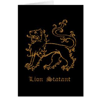 ライオンのstatant中世紋章学 カード