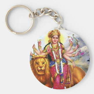 ライオンを持つ女神Durga キーホルダー