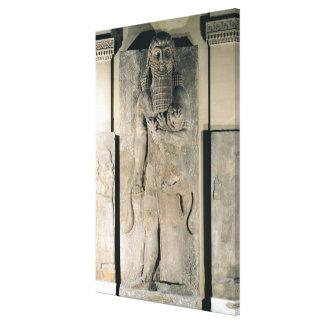 ライオンを握っている英雄Gilgamesh キャンバスプリント