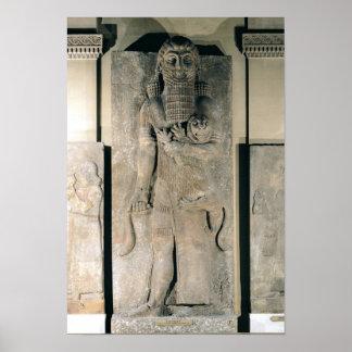 ライオンを握っている英雄Gilgamesh ポスター