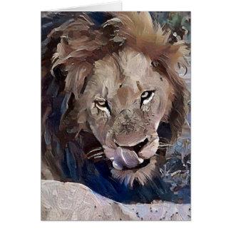 ライオンを舐めること カード