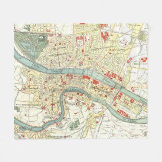 ライオンフランス(1900年)のヴィンテージの地図 フリースブランケット