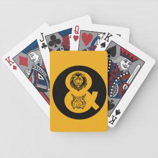 ライオン及びオオヤマネコのロゴ バイスクルトランプ