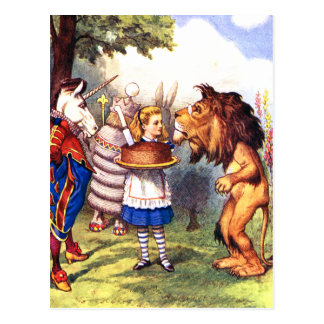 ライオン及びユニコーン; ケーキはそれをよりよくさせます! ポストカード