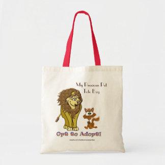 ライオン及び子猫の漫画 トートバッグ