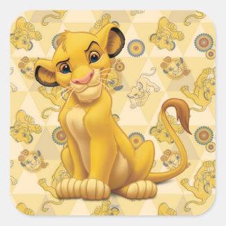 ライオン王三角形パターンの| Simba スクエアシール