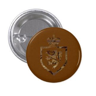 ライオン王-正方形ボタン 3.2CM 丸型バッジ