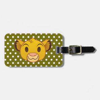 ライオン王  Simba Emoji ラゲッジタグ
