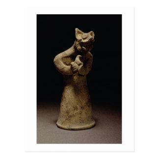 ライオン頭の鬼の小像、メソポタミア、c.5 ポストカード