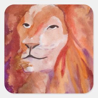 ライオン(キンバリーTurnbullの芸術) スクエアシール