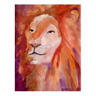 ライオン(キンバリーTurnbullの芸術) ポストカード