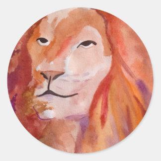 ライオン(キンバリーTurnbullの芸術) ラウンドシール