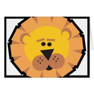 ライオン グリーティングカード