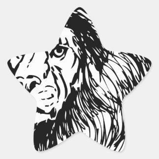 ライオン-ジャングルの王 星シール