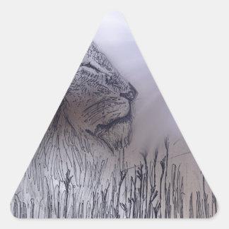 ライオン 三角形シール