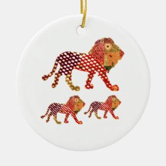 ライオン-動物の威厳のあるな王 セラミックオーナメント