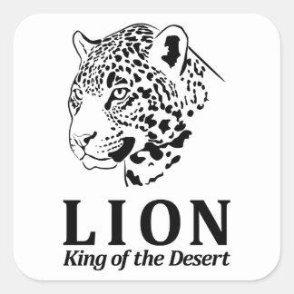 ライオン-砂漠の王 スクエアシール