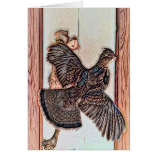 ライチョウの鳥の芸術カード グリーティングカード
