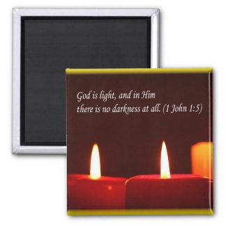 ライトおよび蝋燭の(文字と)磁石 マグネット