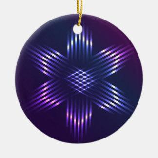 ライトと形づくクリスマスの星 セラミックオーナメント