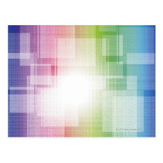 ライトのフラッシュ ポストカード