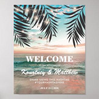 ライトの熱帯ビーチ結婚式|の一連 ポスター