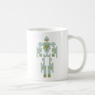 ライトの青Mecha コーヒーマグカップ