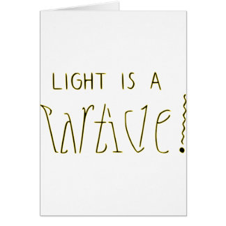 ライトは波の粒子Ambigramです カード