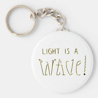 ライトは波の粒子Ambigramです キーホルダー