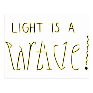 ライトは波の粒子Ambigramです ポストカード