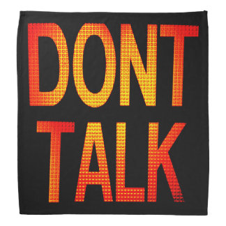 ライトを話すことを止めて下さい バンダナ