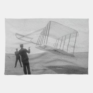 ライト兄弟のテスト飛行 キッチンタオル