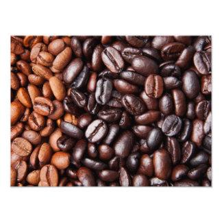 ライト及び暗いローストのコーヒー豆-カスタマイズブランク フォトプリント