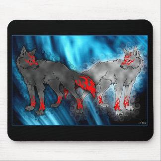 ライト対暗いオオカミのマウスパッド マウスパッド