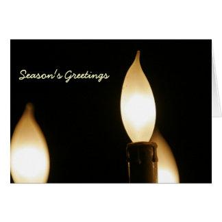 ライト1本の蝋燭 カード