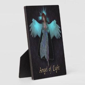 """ライト5.25""""の天使イーゼルが付いているx5.25""""写真のプラク フォトプラーク"""