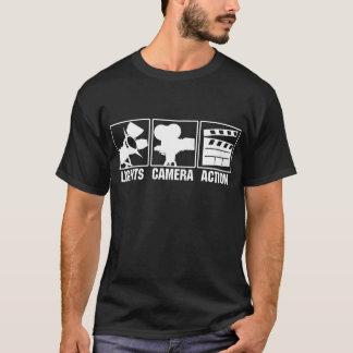 ライト、カメラ、行為 Tシャツ