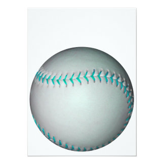 ライト|青い|ステッチ|野球|/|ソフトボール 14 X 19.1 インビテーションカード