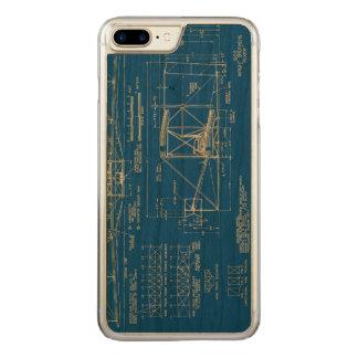 """ライトBros。 """"フライヤ""""の青写真1903年 Carved iPhone 8 Plus/7 Plus ケース"""